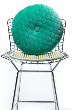 Harry Bertoia Harry Bertoia for Knoll Bar Stools in Custom Italian Parker Hotel Style Cushions - 2134816