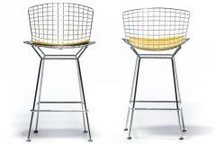 Harry Bertoia Harry Bertoia for Knoll Bar Stools in Custom Italian Parker Hotel Style Cushions - 2134827