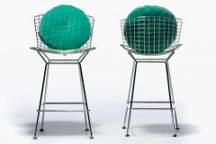 Harry Bertoia Harry Bertoia for Knoll Bar Stools in Custom Italian Parker Hotel Style Cushions - 2134832