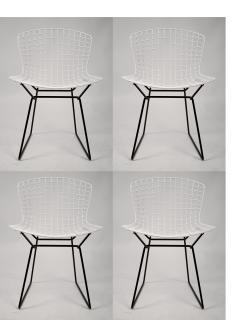 Harry Bertoia Set of 4 Harry Bertoia for Knoll Vintage Side Chairs - 1126514