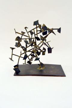 Harry Bertoia Unique Welded Steel and Brass Sculpture by Harry Bertoia - 213820