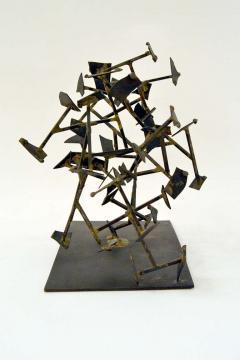 Harry Bertoia Unique Welded Steel and Brass Sculpture by Harry Bertoia - 213821