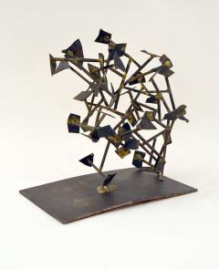 Harry Bertoia Unique Welded Steel and Brass Sculpture by Harry Bertoia - 213822