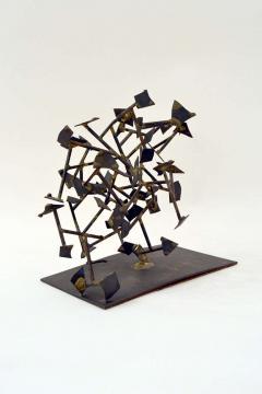 Harry Bertoia Unique Welded Steel and Brass Sculpture by Harry Bertoia - 213823