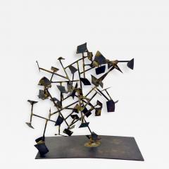 Harry Bertoia Unique Welded Steel and Brass Sculpture by Harry Bertoia - 214353