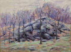 Harry W Newman Impressionist Landscape Oil Painting by Harry W Newman - 1215115