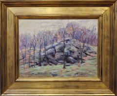 Harry W Newman Impressionist Landscape Oil Painting by Harry W Newman - 1215116