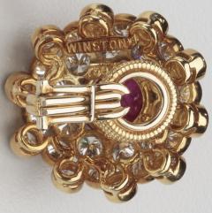 Harry Winston HARRY WINSTON DIAMOND RUBY 18KT EARRINGS - 1519519