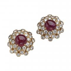 Harry Winston HARRY WINSTON DIAMOND RUBY 18KT EARRINGS - 1524904