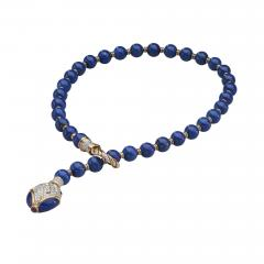 Harry Winston Harry Winston Lapis Diamond 18kt White and Yellow Gold Y Necklace - 1524902