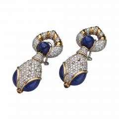 Harry Winston Harry Winston Lapis Diamond and Ruby 18kt White Yellow Gold Earrings - 1524918