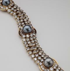 Harry Winston Unique Harry Winston Tahitian South Sea Pearls Diamond Necklace Earrings Set - 1519476