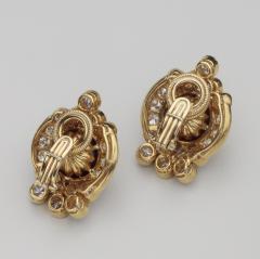 Harry Winston Unique Harry Winston Tahitian South Sea Pearls Diamond Necklace Earrings Set - 1519489