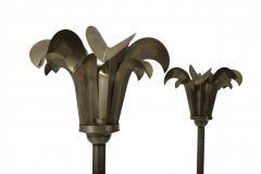 Hart Associates Brass Palm Frond Floor Lamps Hart Associates 1980 - 1620997