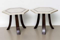 Harvey Probber A Pair of Harvey Probber Terrazzo and Dark Walnut Tables - 742991