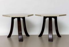 Harvey Probber A Pair of Harvey Probber Terrazzo and Dark Walnut Tables - 742992