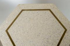 Harvey Probber A Pair of Harvey Probber Terrazzo and Dark Walnut Tables - 742995