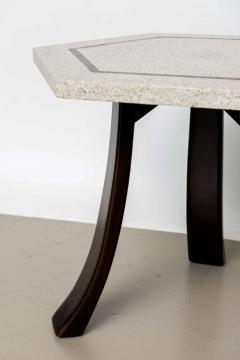 Harvey Probber A Pair of Harvey Probber Terrazzo and Dark Walnut Tables - 742996