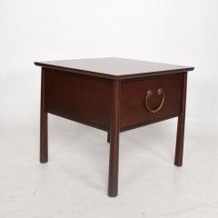 Harvey Probber HENREDON Side End Table by Harvey Probber in Mahogany Big Brass Pull Handle 1950 - 1544119