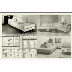 Harvey Probber Handsome Harvey Probber Two Piece Nuclear Sert Sectional Sofa Mid Century Modern - 1252606