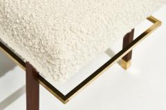 Harvey Probber Harvey Probber Brass Frame Benches in White Boucle Circa 1950 - 1948543