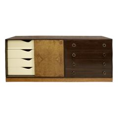 Harvey Probber Harvey Probber Credenza Chest with Carpathian Elm Doors and Base 1950s Signed  - 2072418