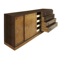 Harvey Probber Harvey Probber Credenza Chest with Carpathian Elm Doors and Base 1950s Signed  - 2072420