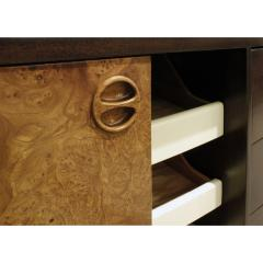 Harvey Probber Harvey Probber Credenza Chest with Carpathian Elm Doors and Base 1950s Signed  - 2072422