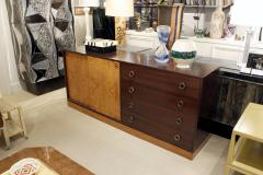 Harvey Probber Harvey Probber Credenza with Carpathian Elm Doors and Base 1950s Signed  - 571460