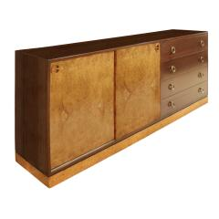 Harvey Probber Harvey Probber Credenza with Carpathian Elm Doors and Base 1950s Signed  - 571656