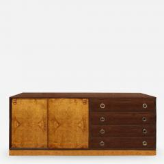 Harvey Probber Harvey Probber Credenza with Carpathian Elm Doors and Base 1950s Signed  - 583830