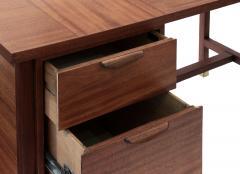Harvey Probber Harvey Probber Desk in Mahogany 1950s Signed  - 1600579