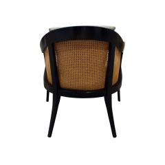 Harvey Probber Harvey Probber Elegant Pair of Lounge Chairs with Caned Backs and Sides 1950s - 1272738