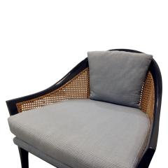 Harvey Probber Harvey Probber Elegant Pair of Lounge Chairs with Caned Backs and Sides 1950s - 1272739