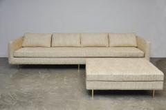 Harvey Probber Harvey Probber Even Arm Sofa on Brass Legs - 1102120