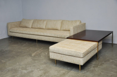 Harvey Probber Harvey Probber Even Arm Sofa on Brass Legs - 1102121