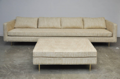 Harvey Probber Harvey Probber Even Arm Sofa on Brass Legs - 1102122