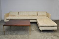 Harvey Probber Harvey Probber Even Arm Sofa on Brass Legs - 1102124
