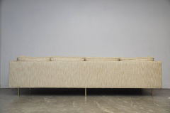 Harvey Probber Harvey Probber Even Arm Sofa on Brass Legs - 1102125