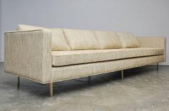 Harvey Probber Harvey Probber Even Arm Sofa on Brass Legs - 1102126