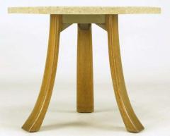 Harvey Probber Harvey Probber Hexagonal Mahogany and Terrazzo Marble Side Table - 277216