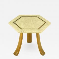 Harvey Probber Harvey Probber Hexagonal Mahogany and Terrazzo Marble Side Table - 330776