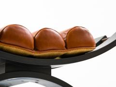 Harvey Probber Harvey Probber Knights Bench in Mahogany Brass and Leather Signed 1950s - 774380