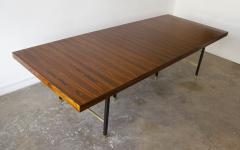 Harvey Probber Harvey Probber Rosewood Dining Table with Extensions and Solid Brass Runners - 1910030
