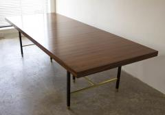 Harvey Probber Harvey Probber Rosewood Dining Table with Extensions and Solid Brass Runners - 1910031