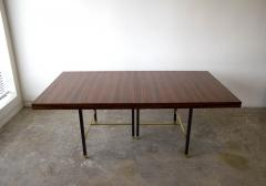 Harvey Probber Harvey Probber Rosewood Dining Table with Extensions and Solid Brass Runners - 1910035