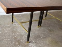 Harvey Probber Harvey Probber Rosewood Dining Table with Extensions and Solid Brass Runners - 1910038
