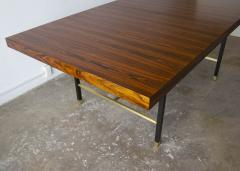 Harvey Probber Harvey Probber Rosewood Dining Table with Extensions and Solid Brass Runners - 1910039