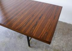 Harvey Probber Harvey Probber Rosewood Dining Table with Extensions and Solid Brass Runners - 1910040