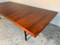 Harvey Probber Harvey Probber Rosewood and Mahogany Dining Table with Brass Accents - 1920317